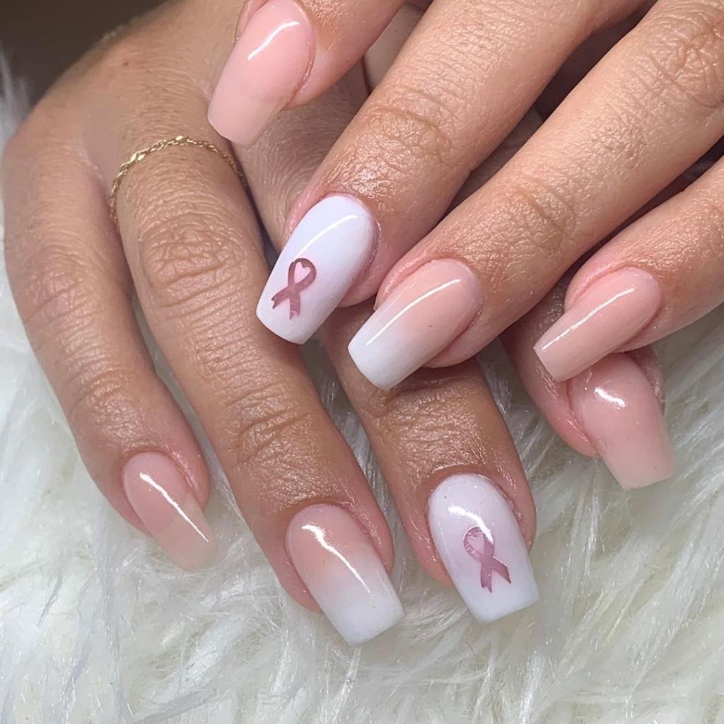 Acrylic Nails Breast Cancer Awareness 2020 - Acrylic Nail ...